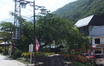 山田温泉公園正面