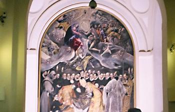 トレド、サントドメ教会、オルガス伯爵の埋葬