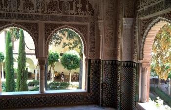 アルハンブラ、リンダハラ中庭望む部屋