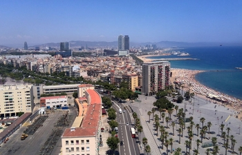 バルセロナ海岸遠望