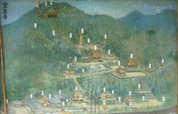 室生寺境内図