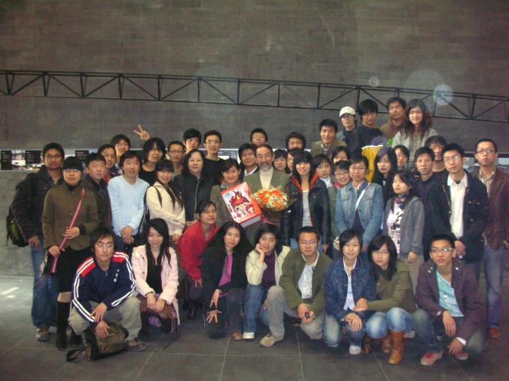 北京中央美術学院で授業:打ち上げ記念写真
