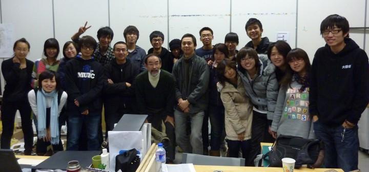 北京、清華大学で授業:打上記念写真